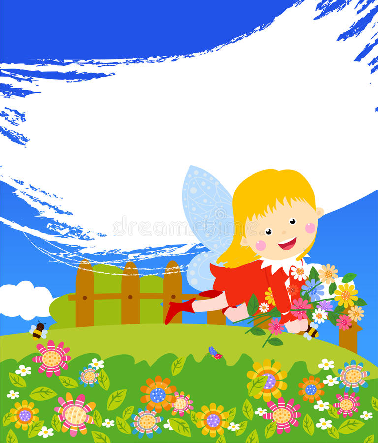 Download A beautiful fairy girl stock vector. Image of fantasy - 30764119