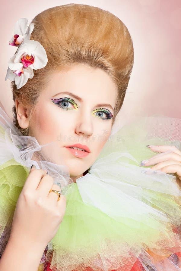 Beautiful fairy-tale woman royalty free stock photo