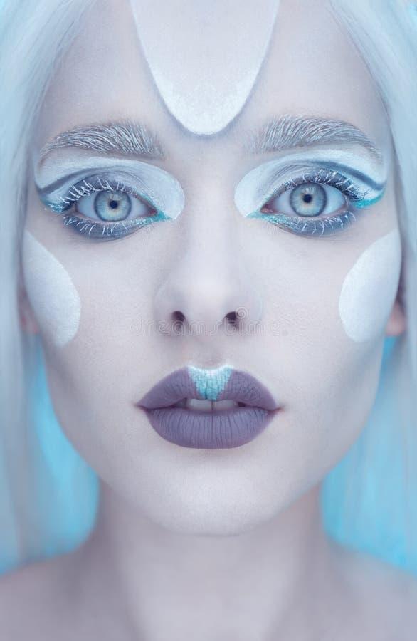 Beautiful fairy winter closeup. royalty free stock images