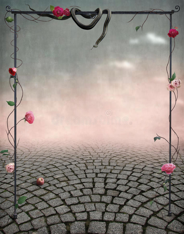 Download Beautiful Fairytale Backdrop For Postcards Stock Illustration - Image: 9741509
