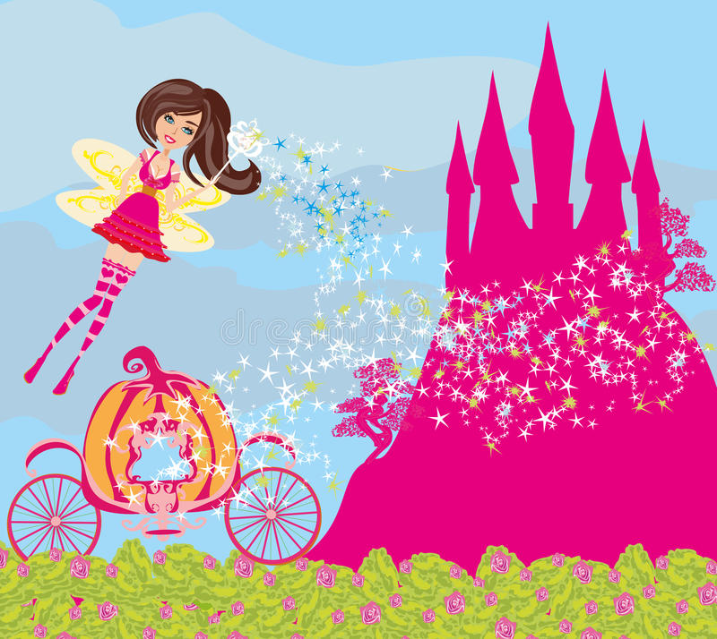 Free Beautiful Fairytale Pink Castle Stock Images - 64924224