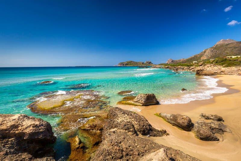 Beautiful Falassarna beach on Crete, Greece stock image