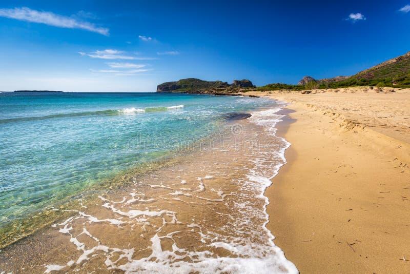 Beautiful Falassarna beach on Crete, Greece stock photography