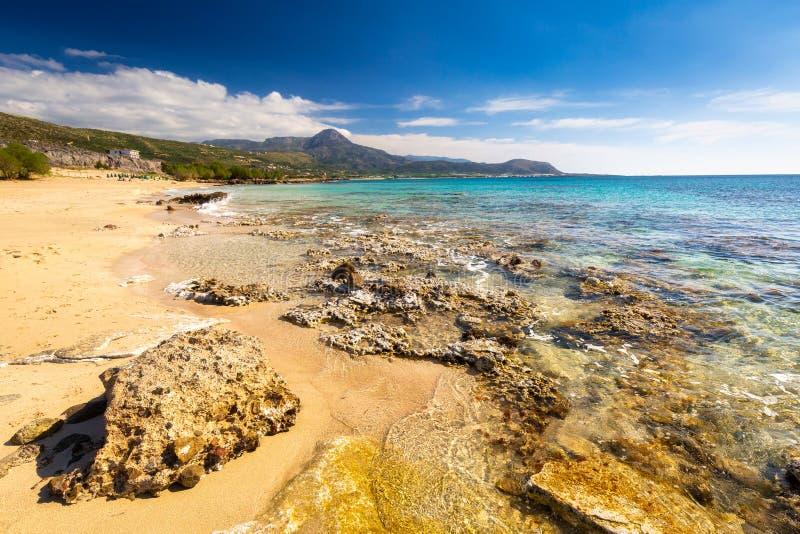 Beautiful Falassarna beach on Crete, Greece stock photo