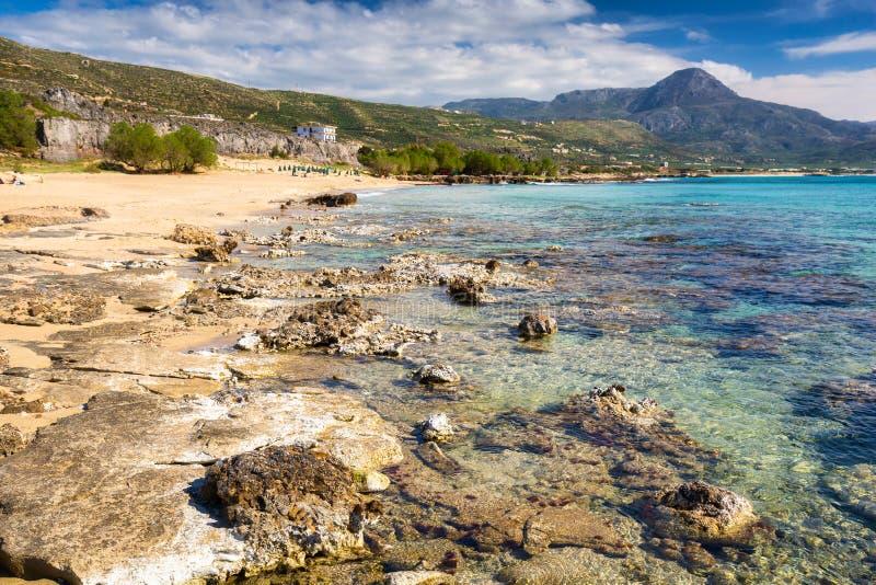 Beautiful Falassarna beach on Crete, Greece royalty free stock images