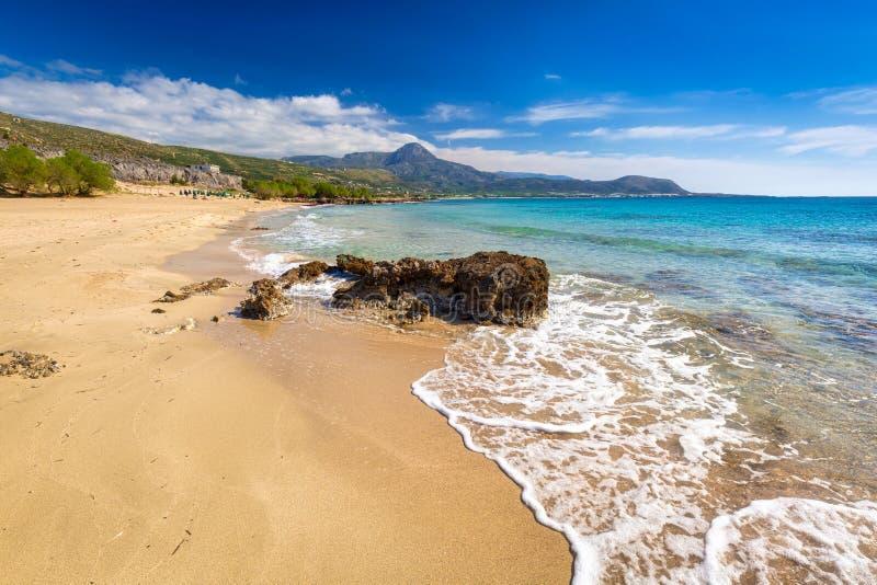 Beautiful Falassarna beach on Crete, Greece stock images