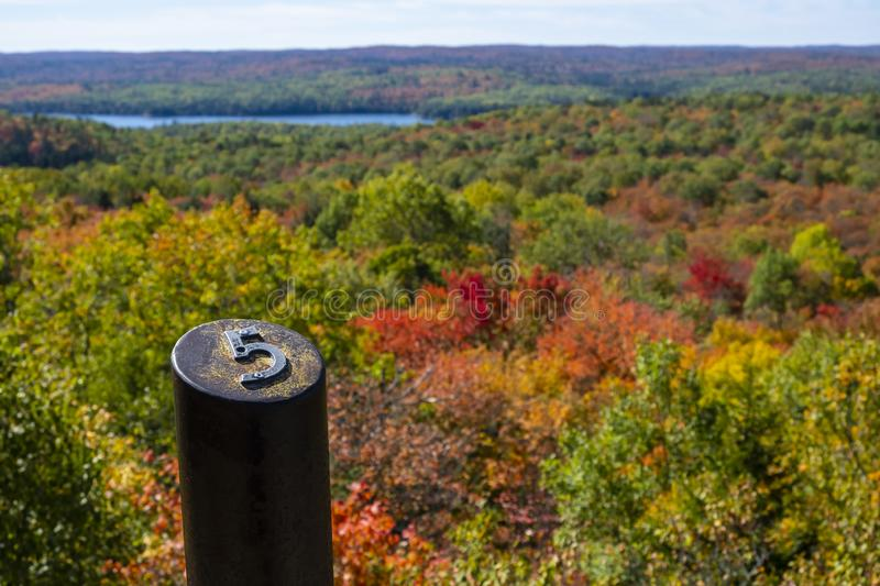 Beautiful Fall Colors and Vistas Seen from Centennial Ridges Hiking Trail #1 royalty free stock image