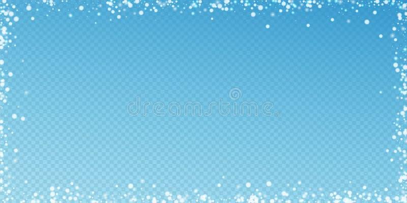 Beautiful falling snow Christmas background. Subtl stock illustration