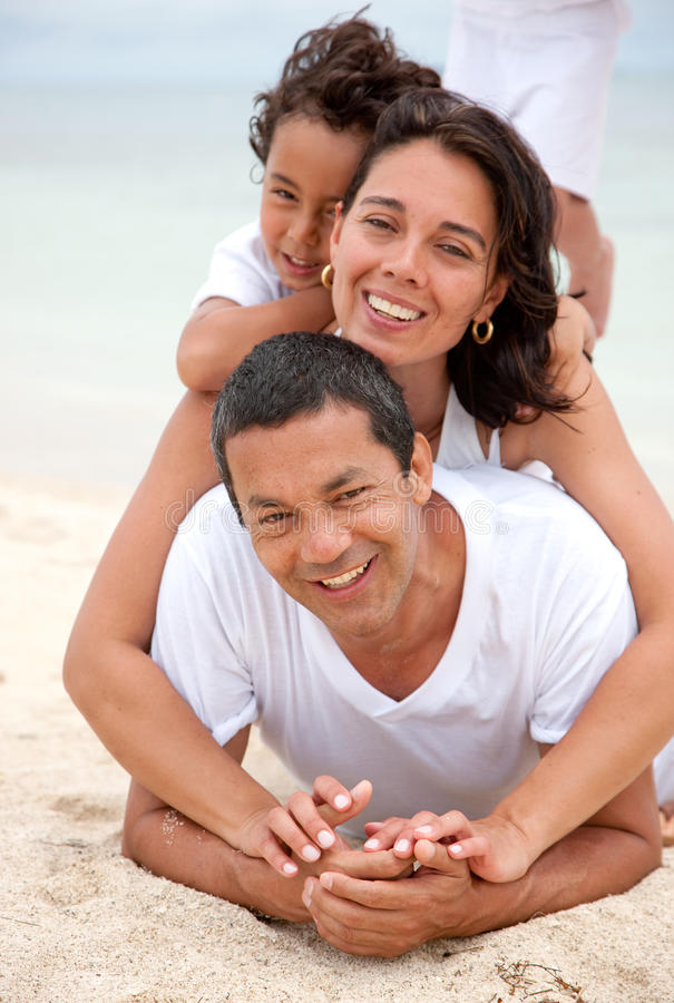 Download Beautiful family stock image. Image of relationship, sand - 10752743