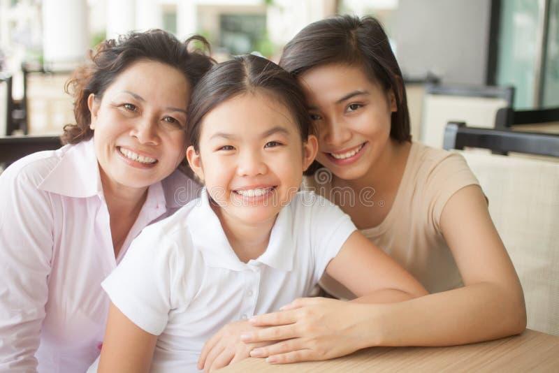Beautiful family royalty free stock photography