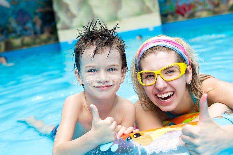 Rest in aquapark stock image