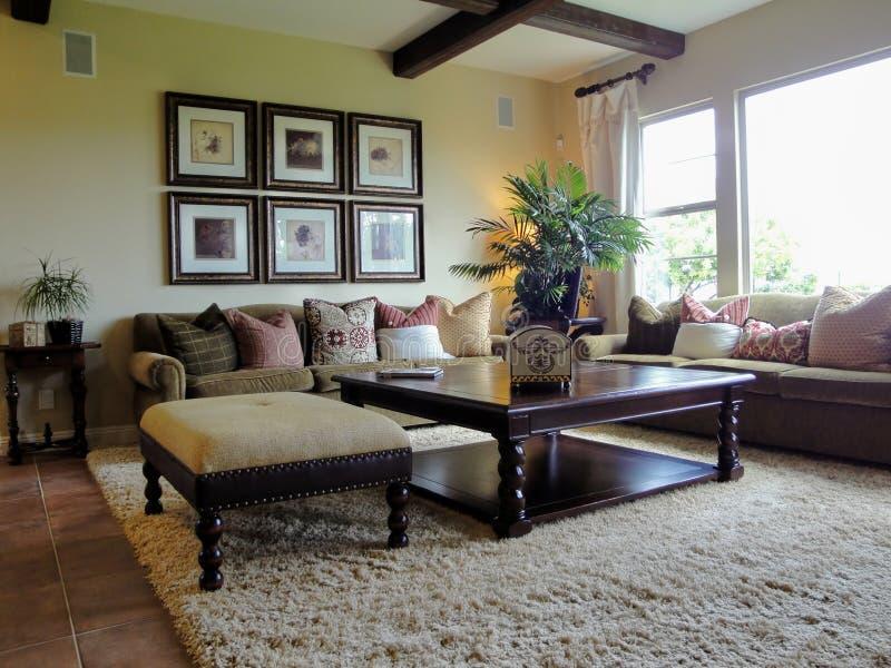 Beautiful Family Room stock image