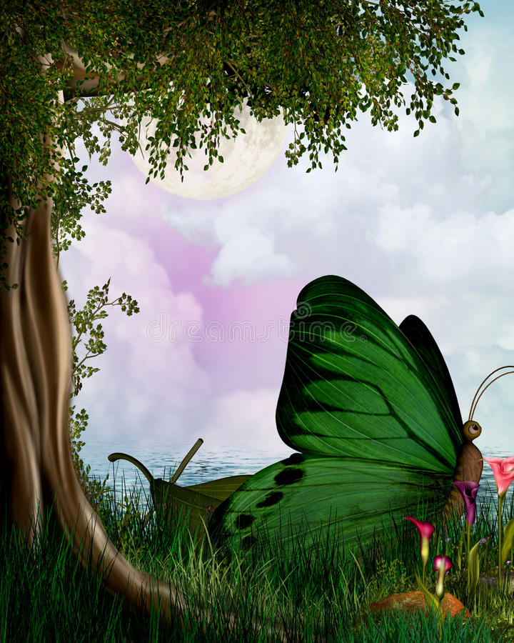 Beautiful Fantasy. Fantasy background which can be used in Digital art and photo-manipulations vector illustration