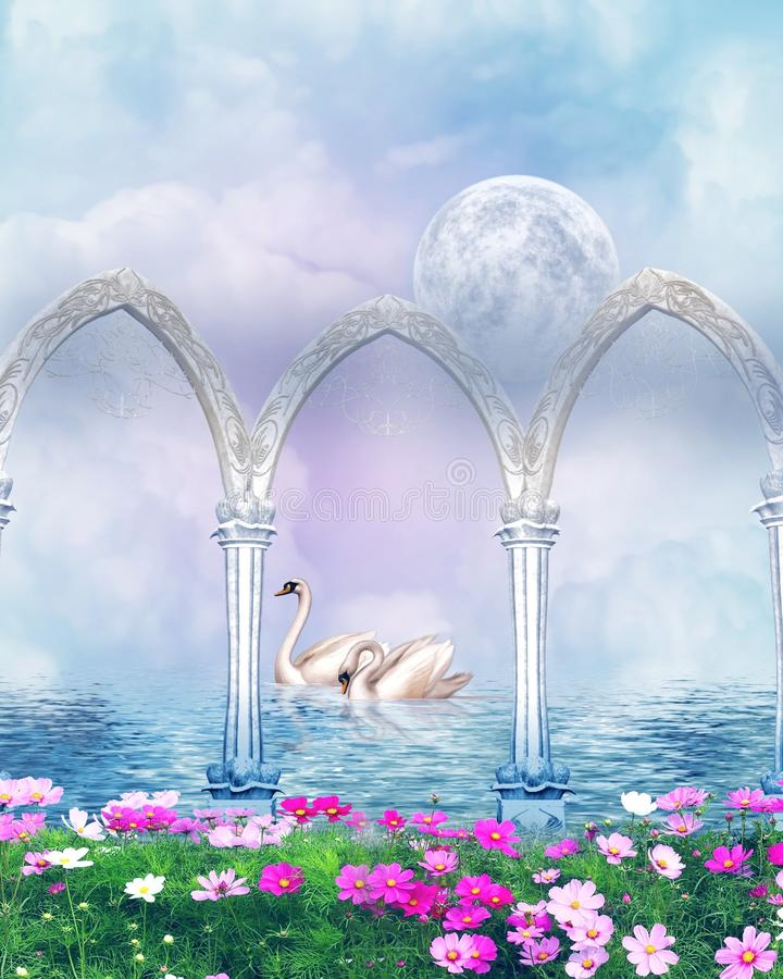 Beautiful Fantasy. Fantasy background which can be used in Digital art and photo-manipulations royalty free illustration