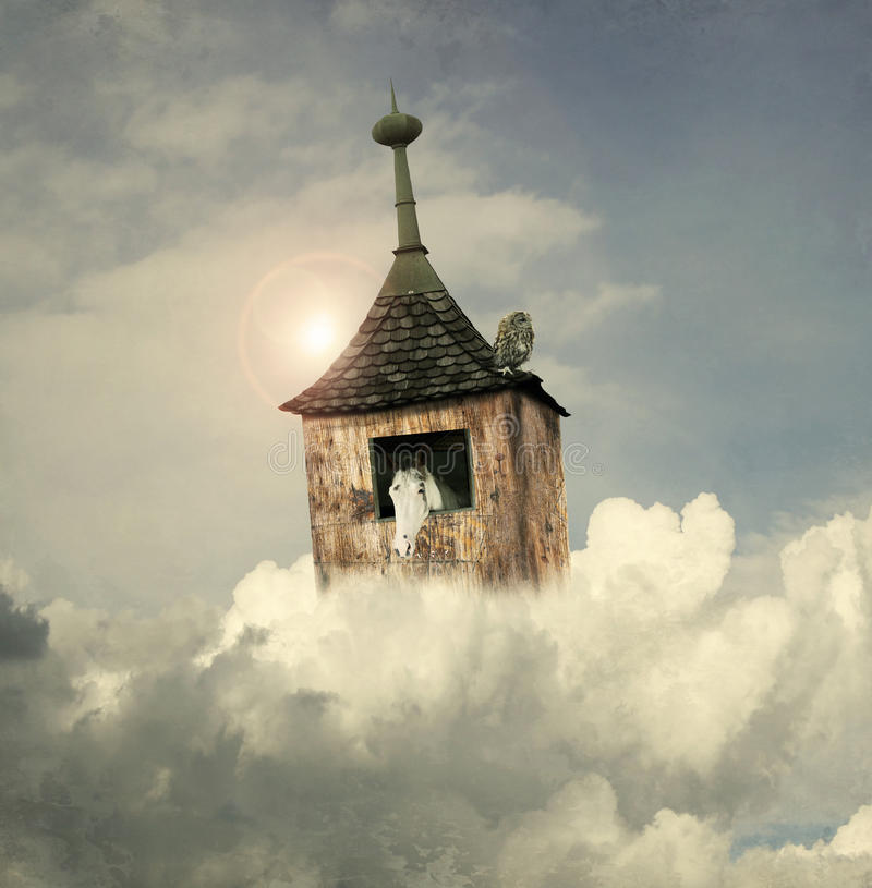 Under the clouds royalty free stock photos