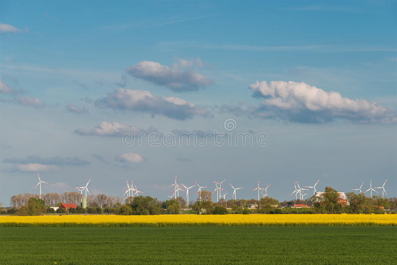 Beautiful farm landscape in late spring in Germany. May 2015 royalty free stock photography