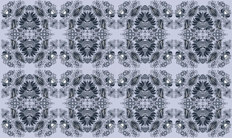 Beautiful and fashion floral pattern background. Seamless floral abstract gray background pattern hf format vector illustration