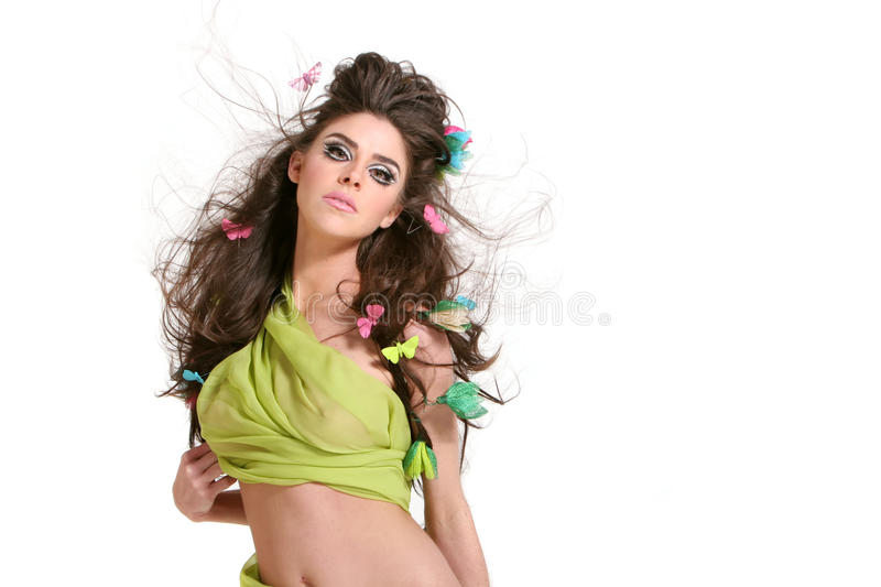 Beautiful fashion girl stock image