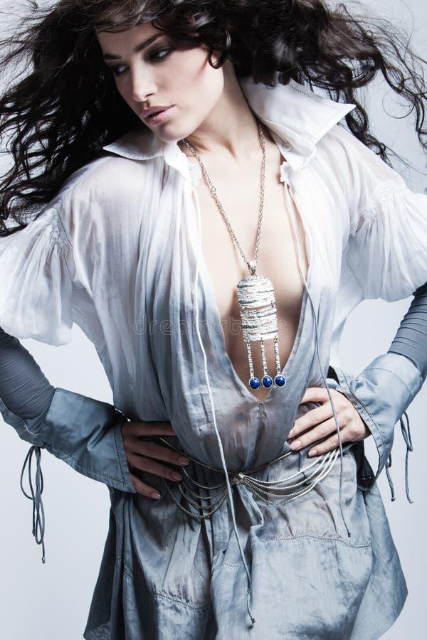 Free Beautiful Fashion Girl In Motion Studio Shot Stock Image - 82846851