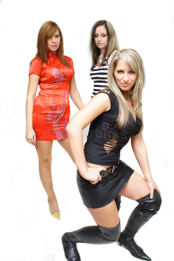 Beautiful fashion girls royalty free stock image