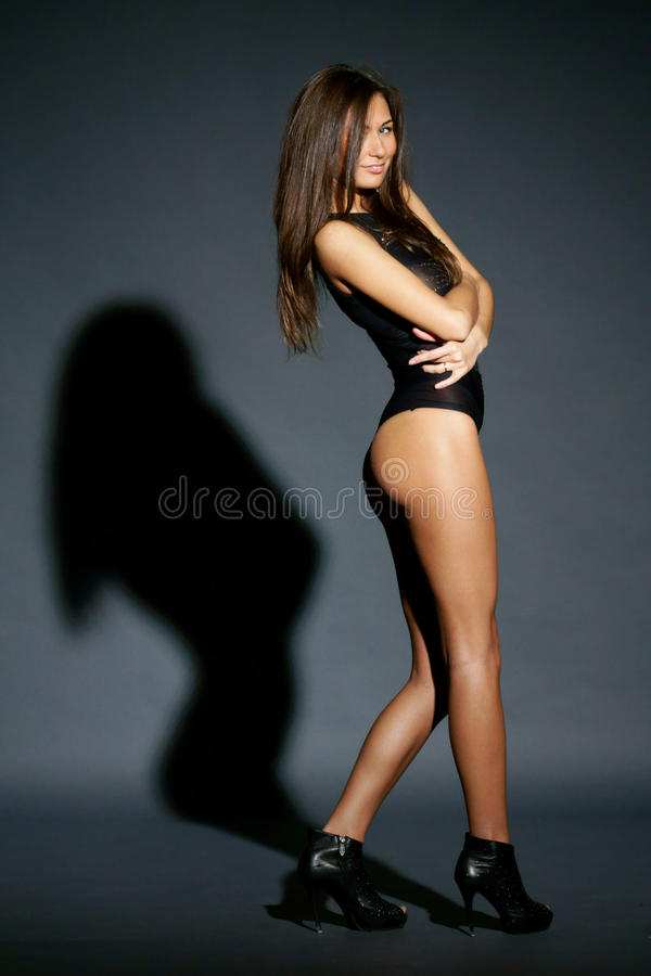 Beautiful fashion and glamour female model stock image