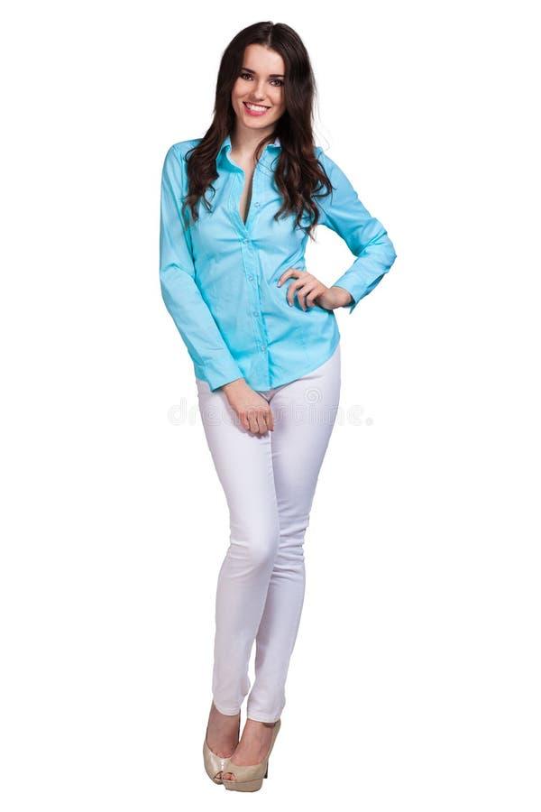 Beautiful Fashion model wearing dress stock photos