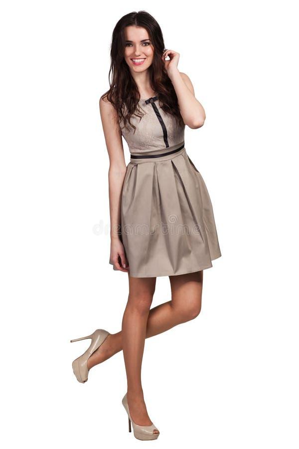 Beautiful Fashion model wearing dress royalty free stock photography
