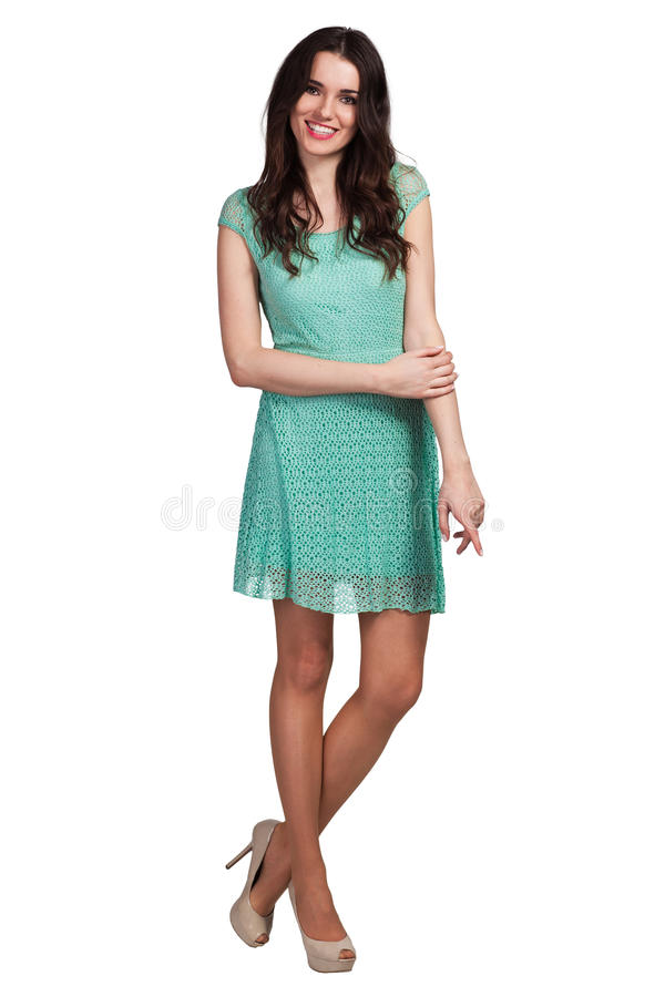 Beautiful Fashion model wearing dress royalty free stock photos
