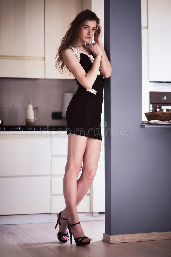 Download Beautiful Fashion Model Woman At The Interior Royalty Free Stock Photo - Image: 30037405