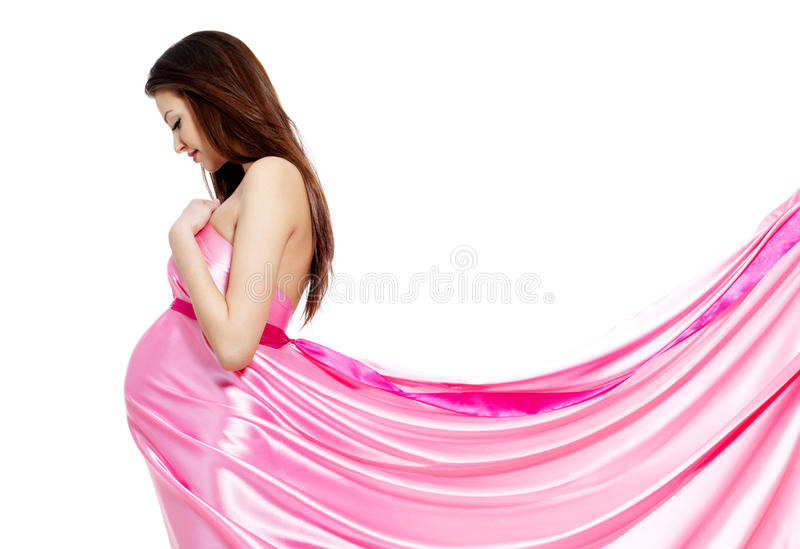 Beautiful fashion Pregnant woman royalty free stock images