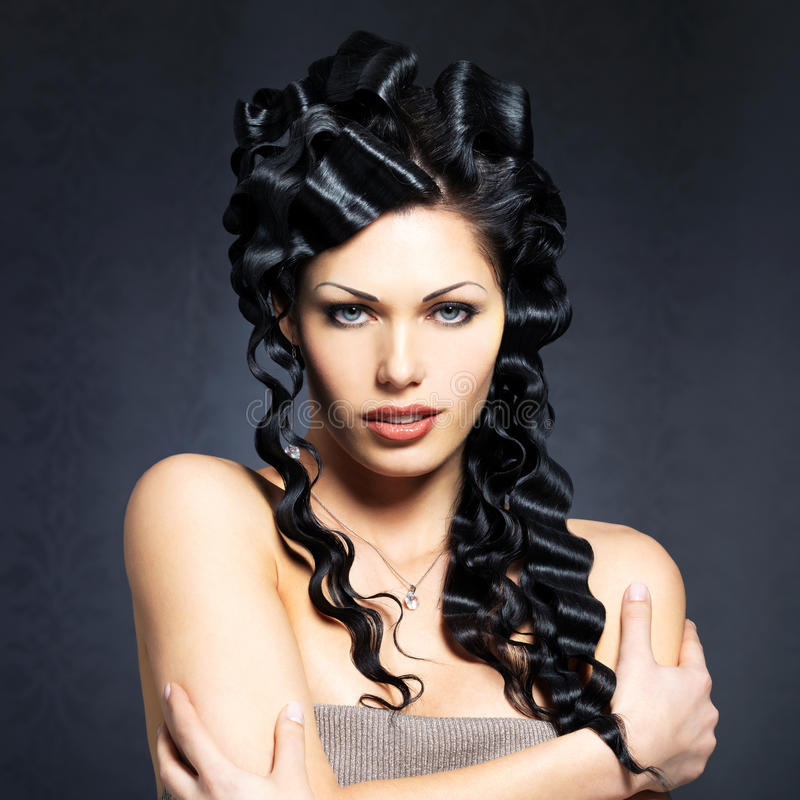 Download Beautiful Fashion  Woman With Curly Hairstyle Stock Image - Image: 34371849