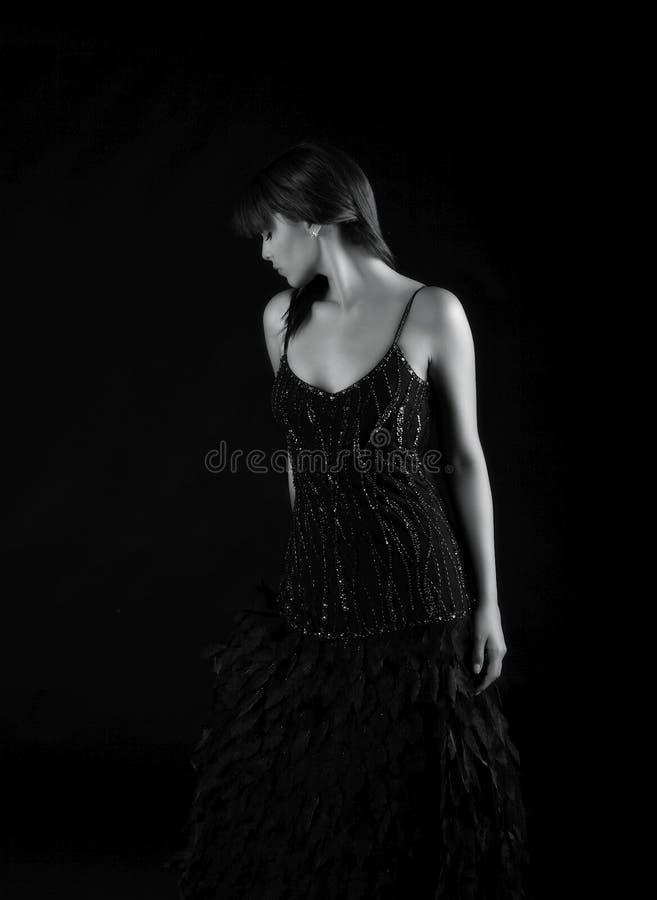 Beautiful fashion shot of hispanic lady stock photo