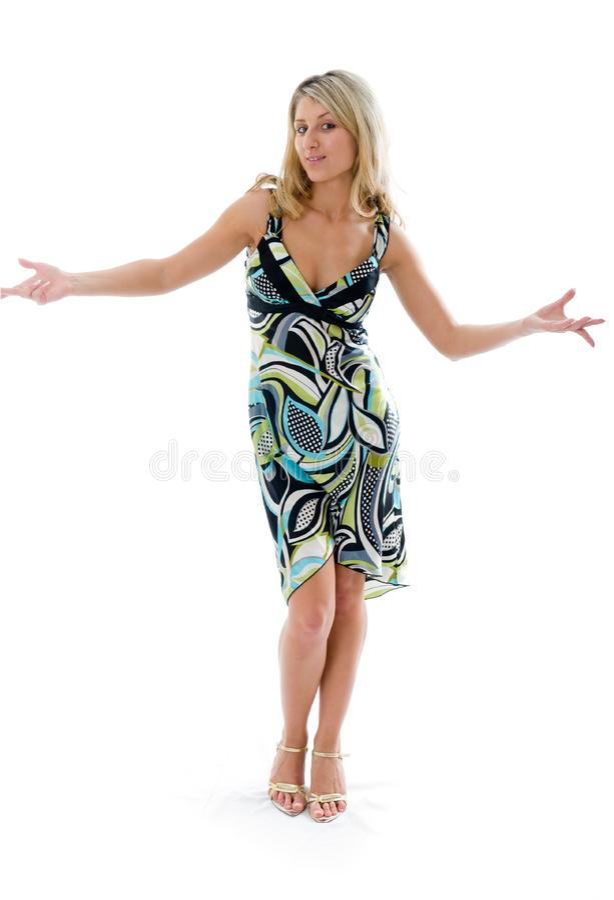 Download Beautiful Fashion Woman Dancing Stock Image - Image of elegance, background: 5688671