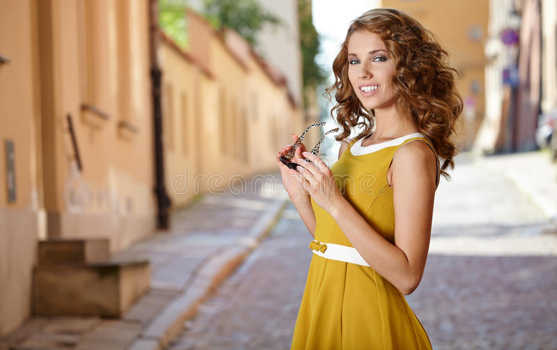 Download Beautiful Fashion Woman Outdoor Stock Image - Image: 31767909