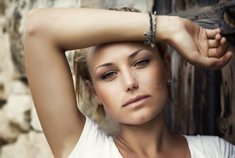 Beautiful Fashion Woman Portrait. Portrait of Beautiful Stylish Girl royalty free stock image