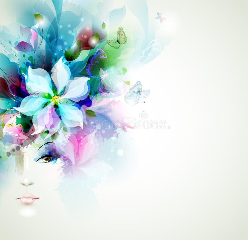 Beautiful fashion women stock illustration