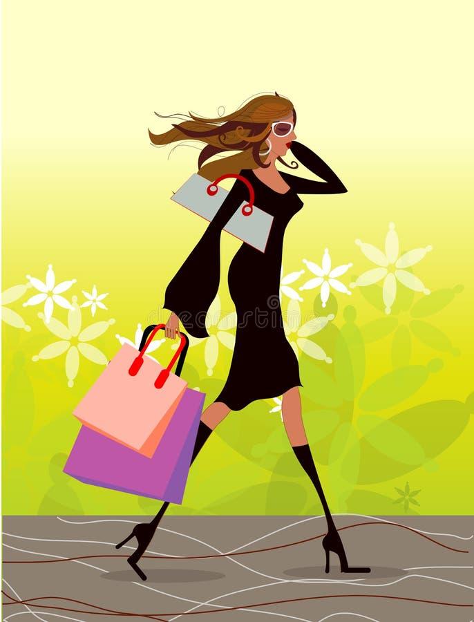 Download Beautiful fashionable girl stock illustration. Illustration of blue - 5648487