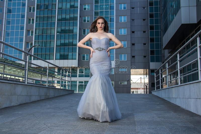 Fashion woman in dress stock photos
