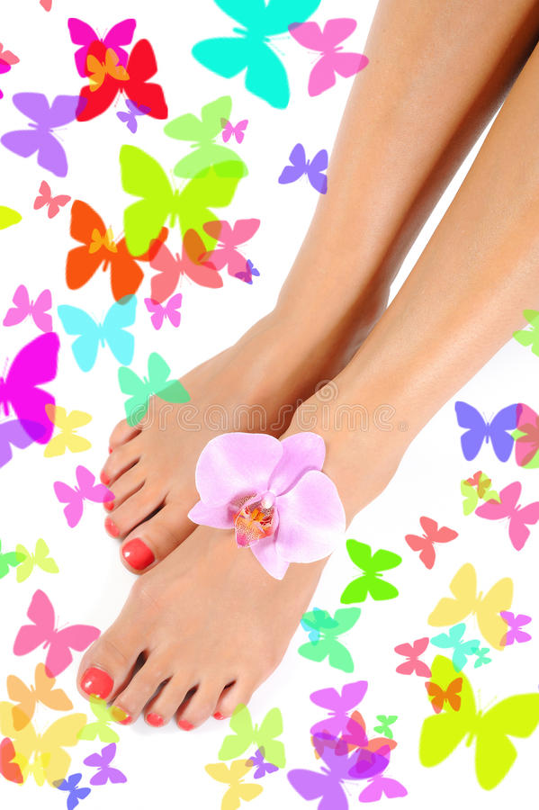 Download Beautiful Feet Leg With Perfect Spa Pedicure Royalty Free Stock Photo - Image: 16650435