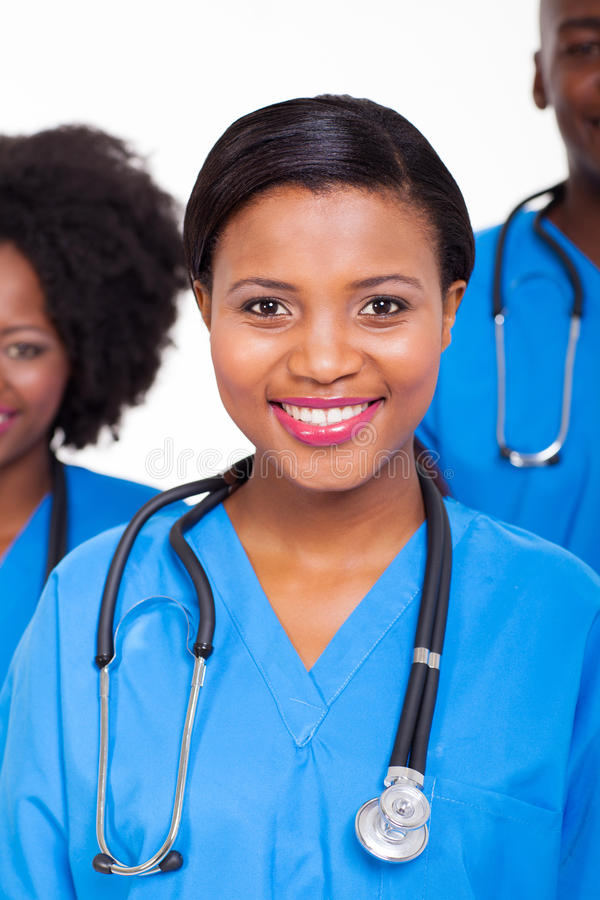 African nurse colleagues stock photos