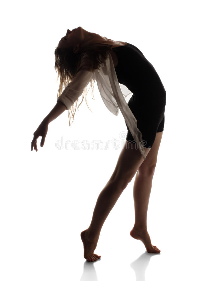 Beautiful female dancer royalty free stock photography