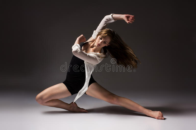 Beautiful female dancer royalty free stock photo