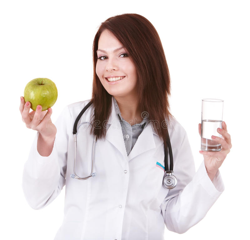 Beautiful Female Doctor With Stethoscope. Stock Photos