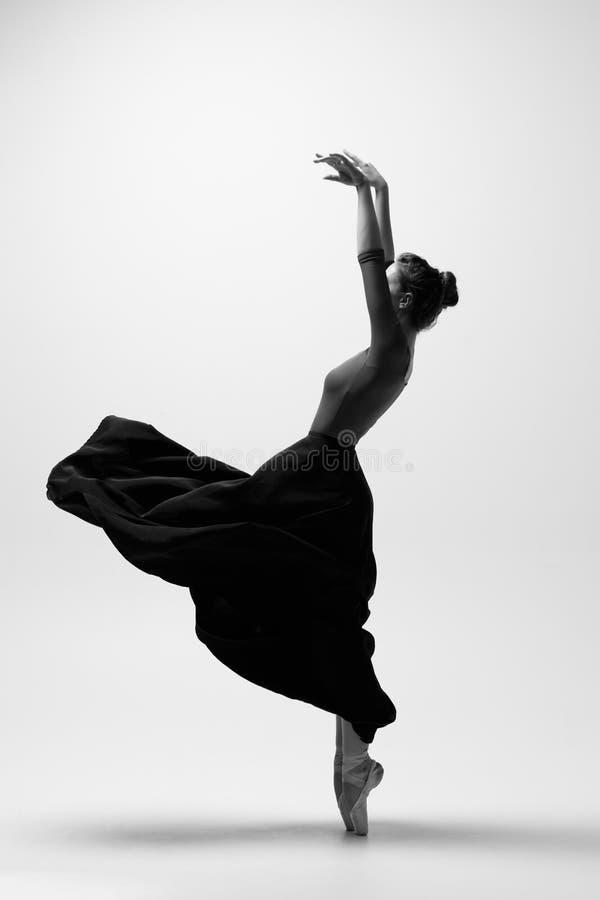 Young beautiful ballerina is posing in studio royalty free stock photos