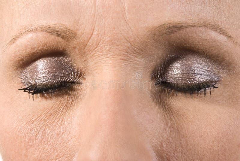 Beautiful female eye stock images