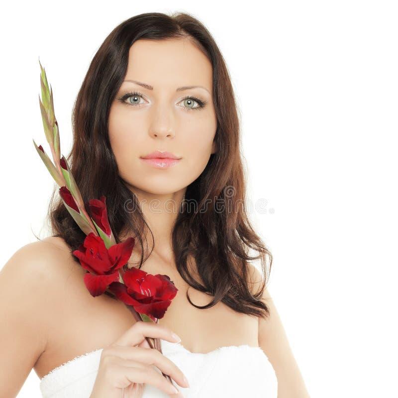 Beautiful Female Face, Spa Stock Photography