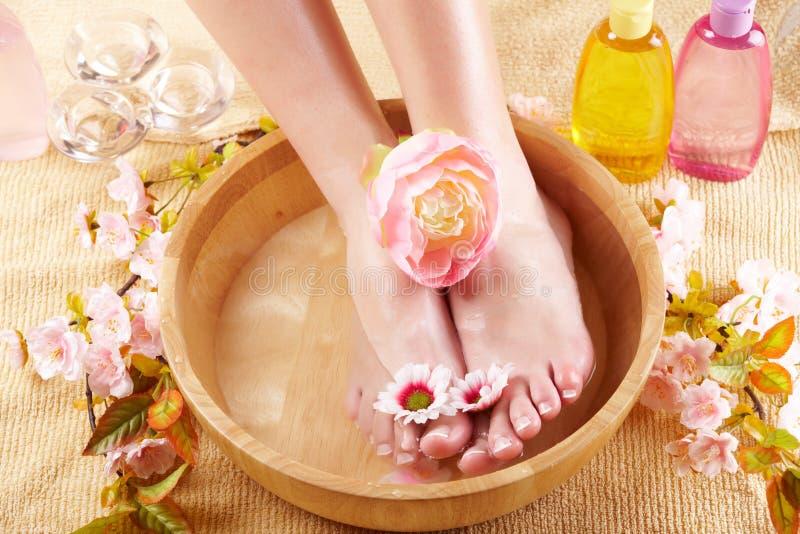 Beautiful female feet royalty free stock images