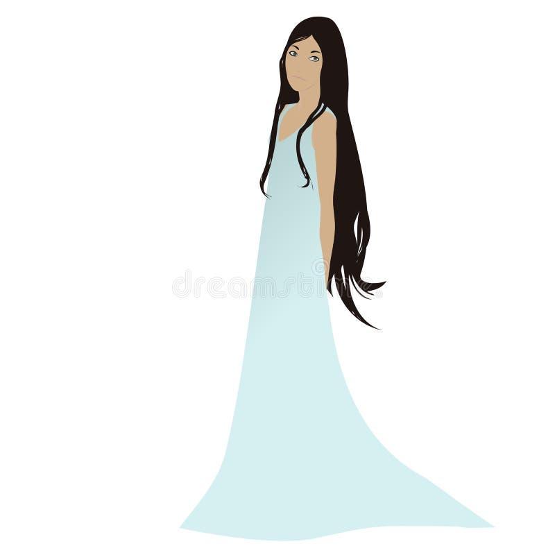 Beautiful female figure vector illustration
