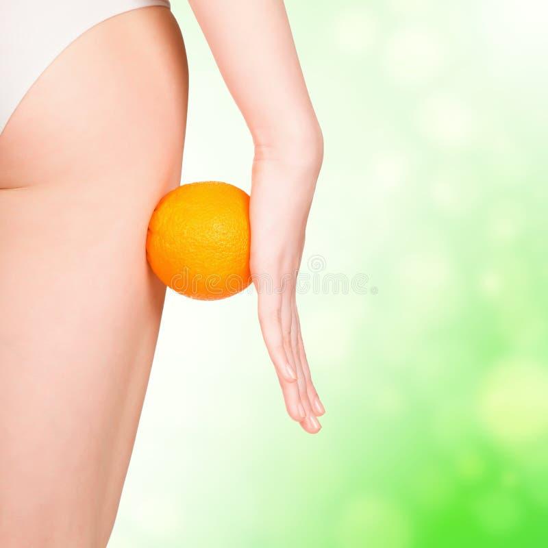 Download Beautiful Female Figure With Orange Stock Image - Image: 25519949