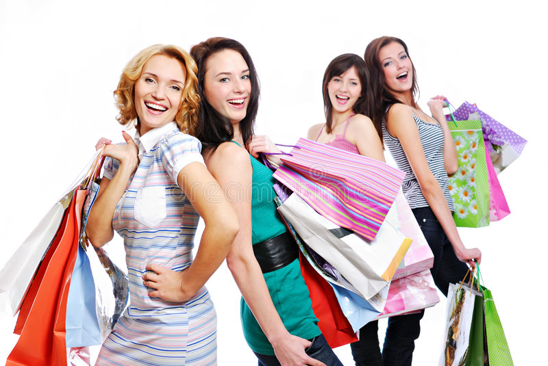 Download Beautiful  Female With Gift Stock Image - Image: 7974733
